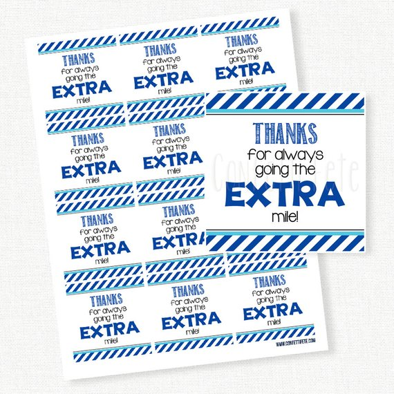 Thanks for going the extra mile gum clipart picture stock Thanks for going the EXTRA mile Tag, Teacher Appreciation Gift Tags ... picture stock