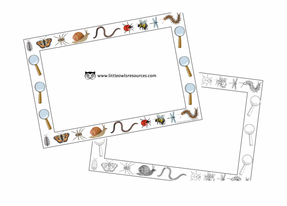 Ey clipart vector library Free Minibeasts Borders Printable Early Years/ey Resource/download ... vector library