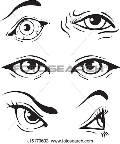 Eye clipart from side clip freeuse library Clip Art of woman opened eye k6194157 - Search Clipart ... clip freeuse library