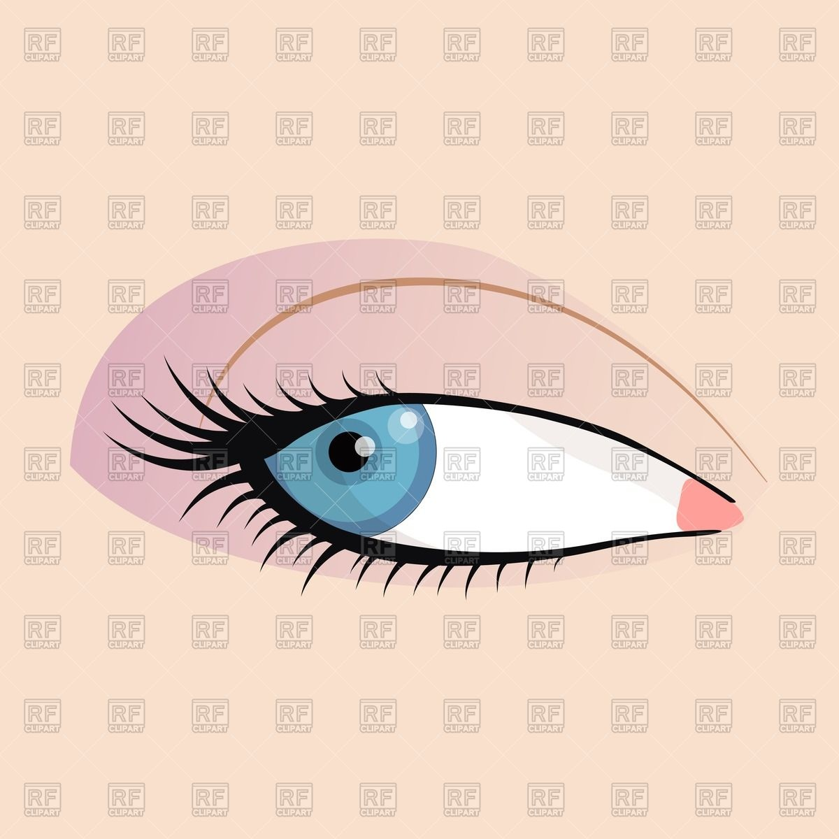 Eye clipart from side clip art library download Open female eye - side sight Vector Image #64327 – RFclipart clip art library download