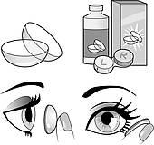 Eye contact clipart clip art black and white stock Eye Contact Lens Clip Art - Royalty Free - GoGraph clip art black and white stock
