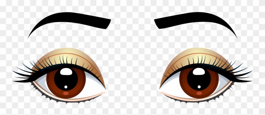 Eye eye clipart clip art freeuse Brown Eyes With Eyebrows Png Clip Art - Brown Eyes Clipart Png ... clip art freeuse