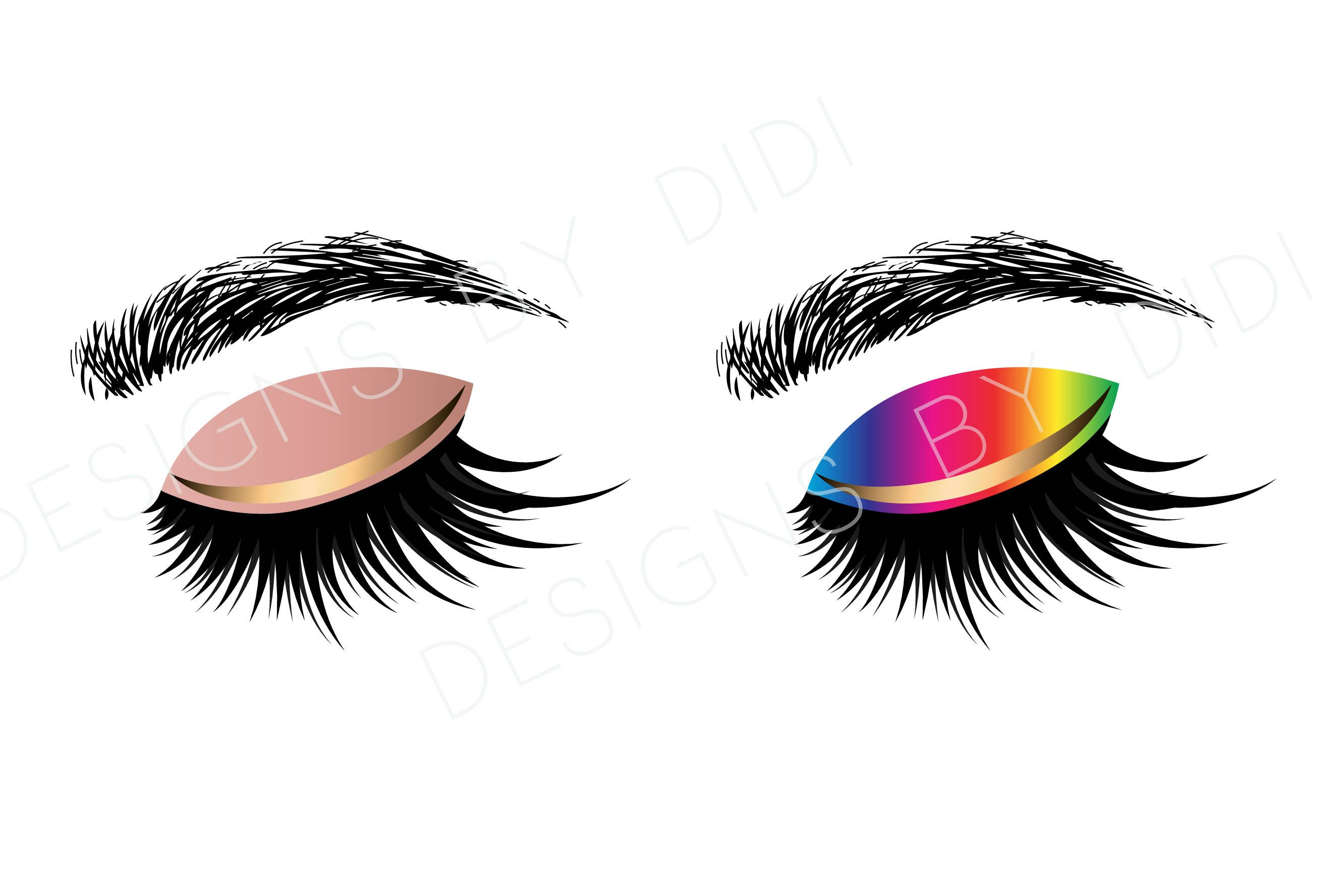 Eye lash clipart clip freeuse stock Instant Download, Lash Clipart, 2 X lashes clip art, instant ... clip freeuse stock