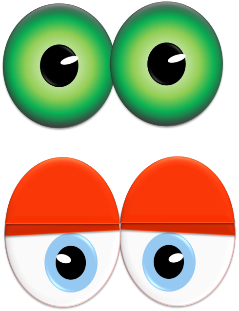 Print your own eye. Eyeballs clipart halloween