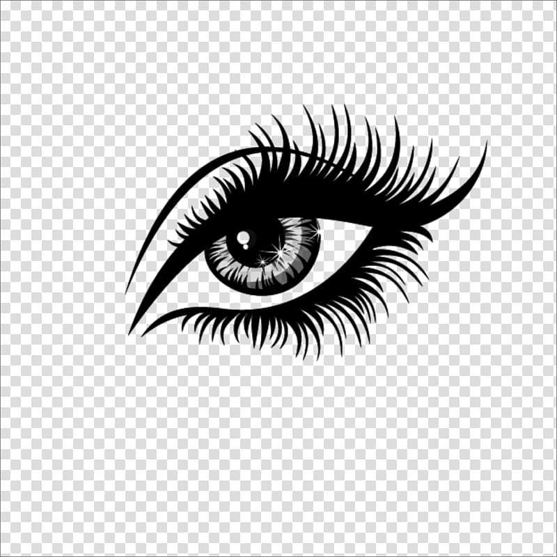 Eyelash logo clipart clip art black and white stock Eyelash extensions Artificial hair integrations , eye, eye ... clip art black and white stock