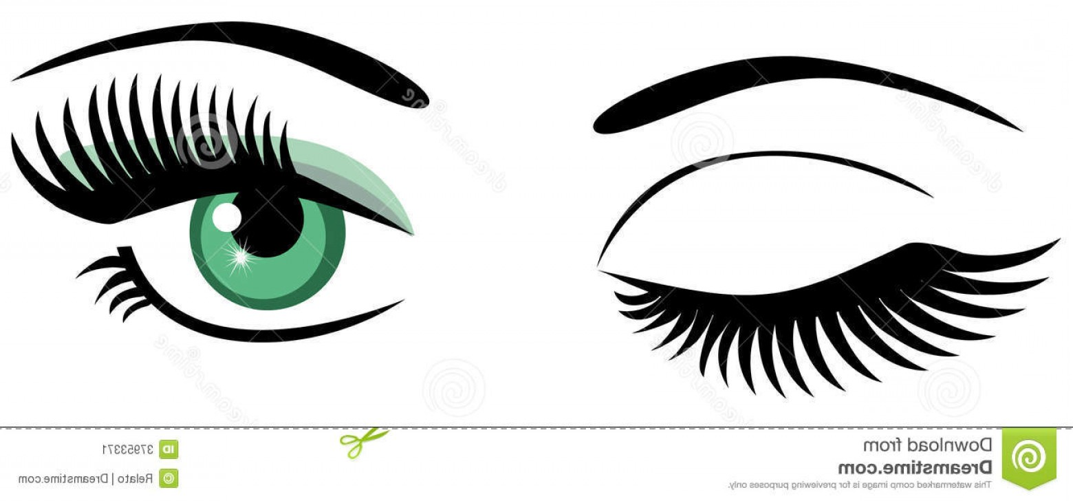 Eyelash vector clipart clipart royalty free library Posteye With Eye Lashes Vector Clip Art | HandandBeak clipart royalty free library