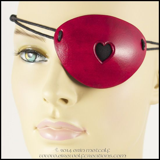 Eyepatch transparent real -vector -clipart costume clip art black and white download See-through Heart Red Leather Pirate Eye Patch handmade masquerade ... clip art black and white download