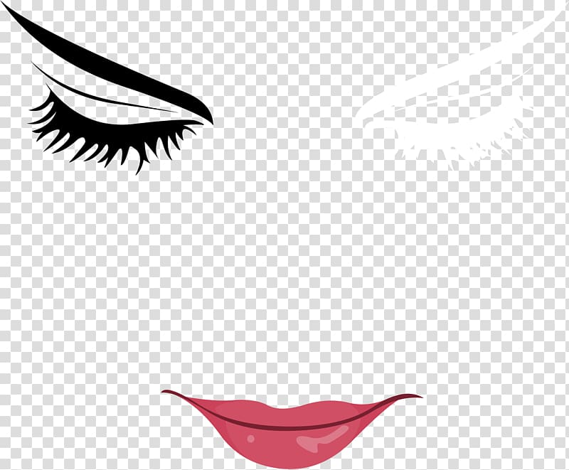 Eyes and lips clipart jpg download Eye and lips illustration, Woman with Eyes Closed Eyebrow , Hand ... jpg download