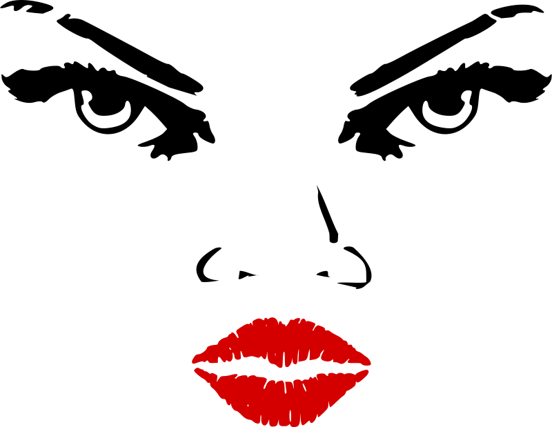 Eyes and lips clipart transparent Free Clipart: Woman eyes nose lips | zeimusu transparent