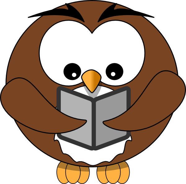 Owl reading book clipart graphic black and white library Owl Book Clipart | Clipart Panda - Free Clipart Images graphic black and white library