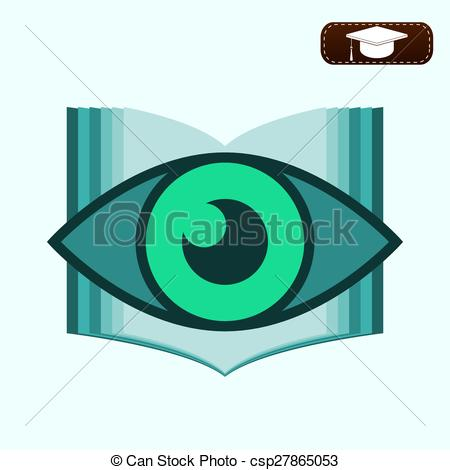Eyes in book clipart vector transparent stock Clipart Vector of logo Book with eyes. Education concept ... vector transparent stock