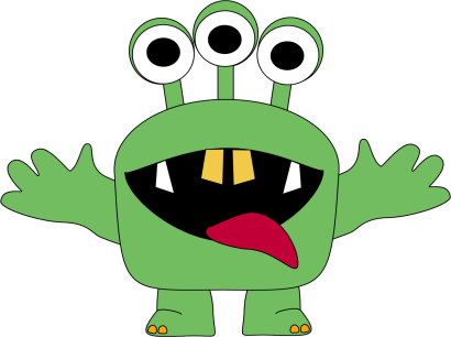 Eyes monster clipart banner library download monster clipart for kids | Three Eyed Monster Clip Art Image - green ... banner library download