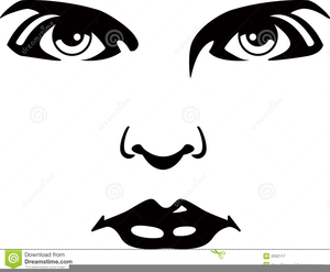 Eyes nose mouth clipart png black and white library Clipart Of Eyes Nose And Mouth | Free Images at Clker.com - vector ... png black and white library