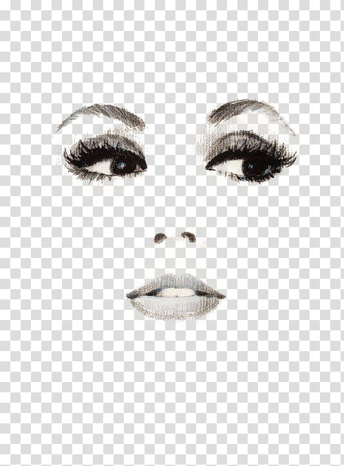 Eyes nose mouth clipart banner stock Vol , woman eyes, nose, and lips artwork transparent background PNG ... banner stock