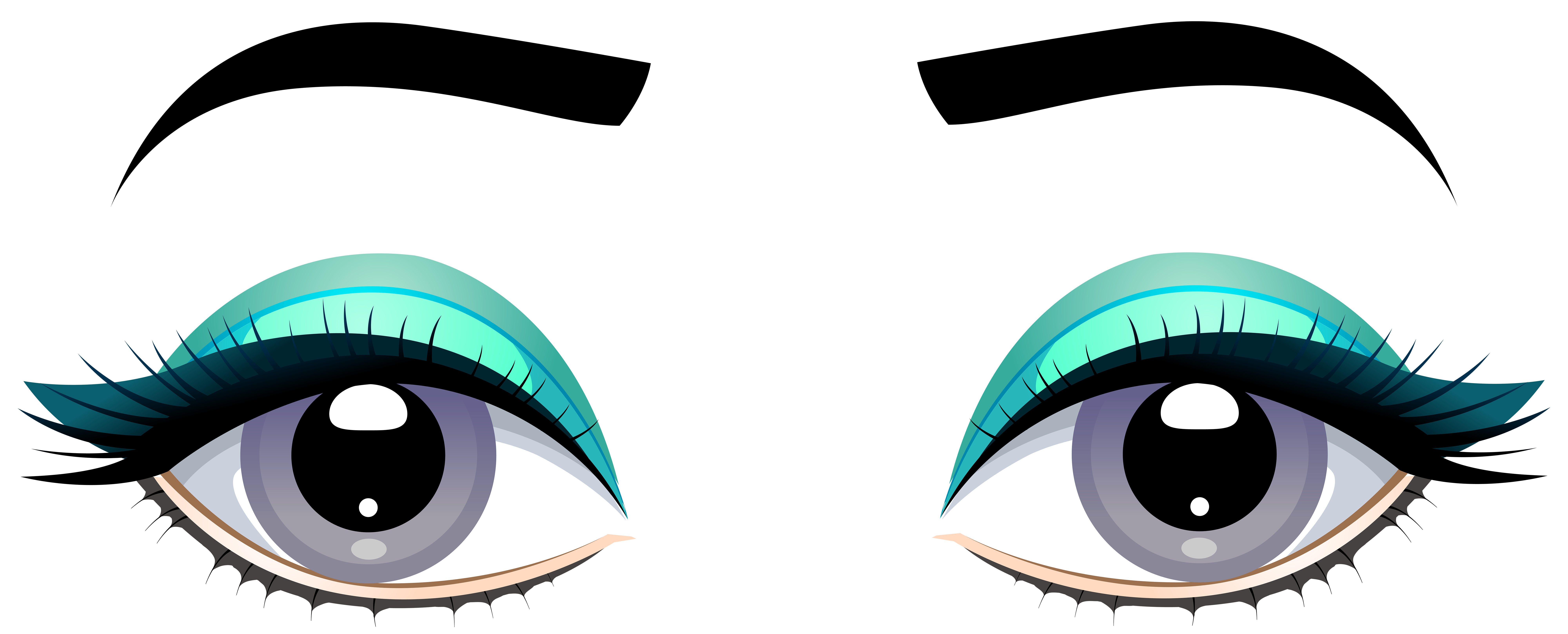 Eyes on book clipart vector library download Grey Female Eyes with Eyebrows PNG Clip Art - Best WEB Clipart vector library download