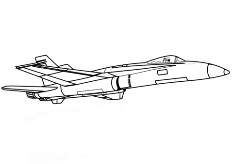 F 111 fighter jet clipart black and white royalty free Jet Fighter coloring page | Free Printable Coloring Pages royalty free
