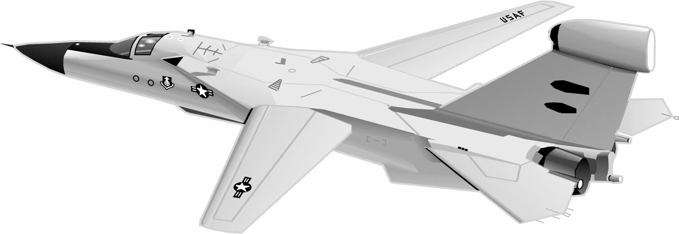 F 111 fighter jet clipart black and white graphic library library F-111 - Military Aircraft graphic library library