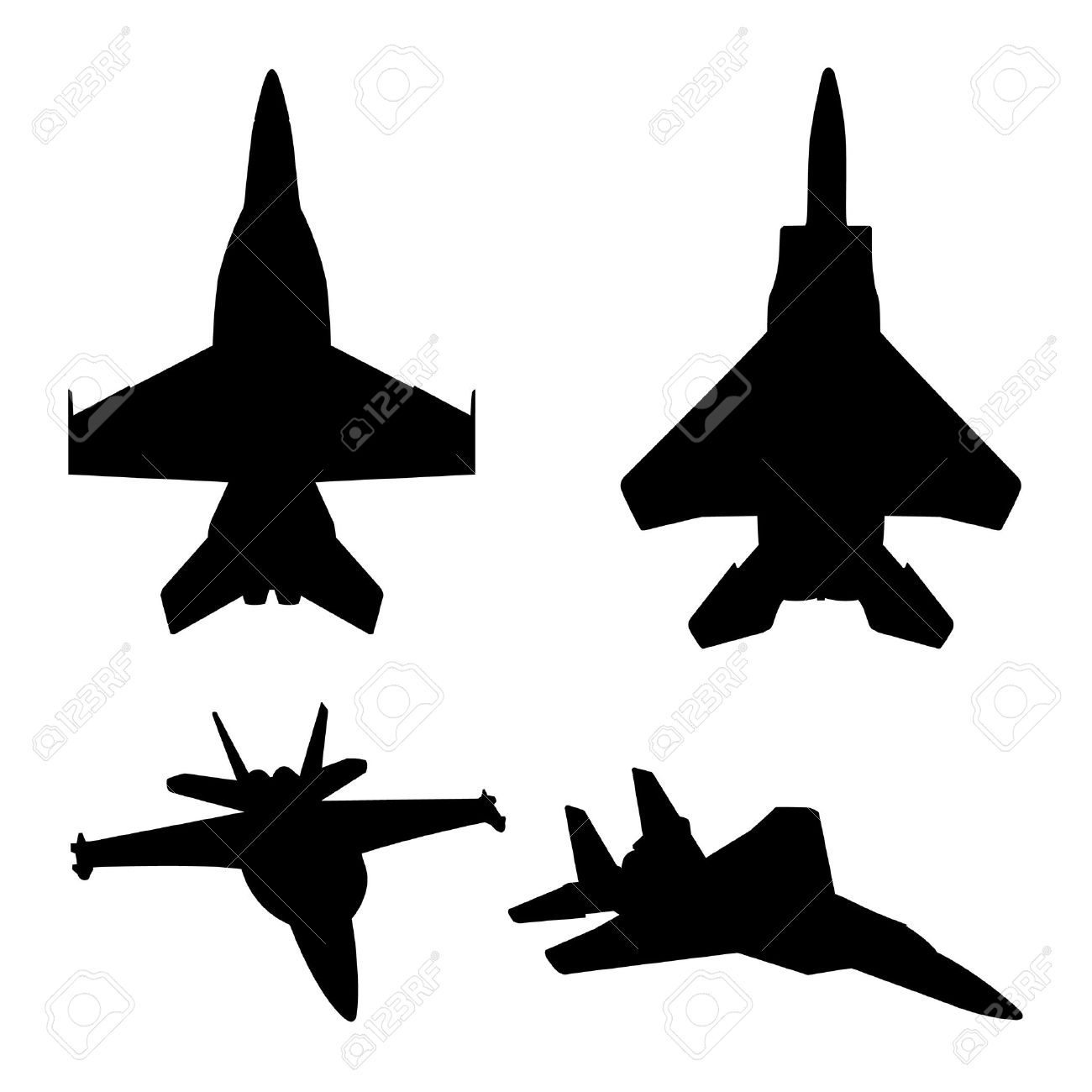 F-18 Silhouette - ClipArt jpg freeuse