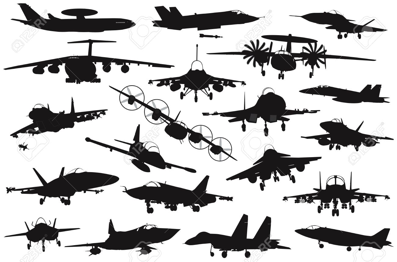 F-18 Silhouette - ClipArt png freeuse download