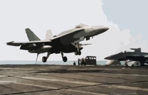 Cvn 71 - F-18 Landing Clip Art at Clker.com - vector clip art ... picture black and white