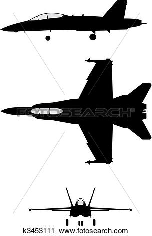 Clipart of F-18 k3453111 - Search Clip Art, Illustration Murals ... clip freeuse download