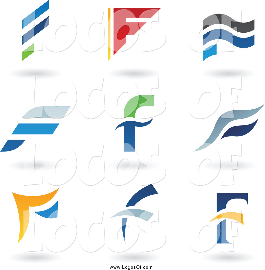 F clipart logo png royalty free library Vector Clipart of Letter F Logos and Shadows by cidepix - #4440 png royalty free library