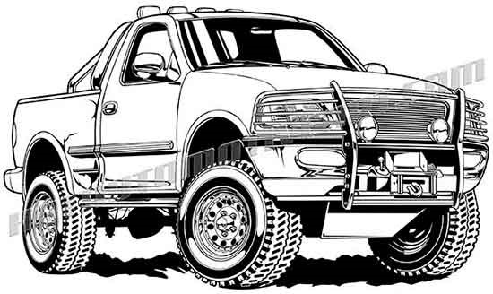 F150 clipart vector freeuse Ford f150 clipart » Clipart Portal vector freeuse