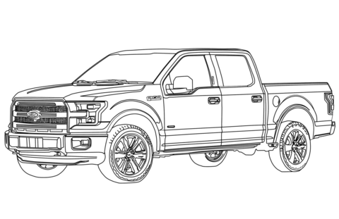 F150 clipart clip black and white library Ford F150 Pickup Truck coloring page | Free Printable Coloring Pages clip black and white library
