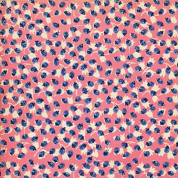 Fabric pattern clipart vector library Colorful Digital Vintage Ladybug Fabric Pattern in Pink and Blue ... vector library