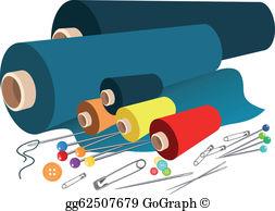 Fabrics clipart vector free Fabric Clip Art - Royalty Free - GoGraph vector free