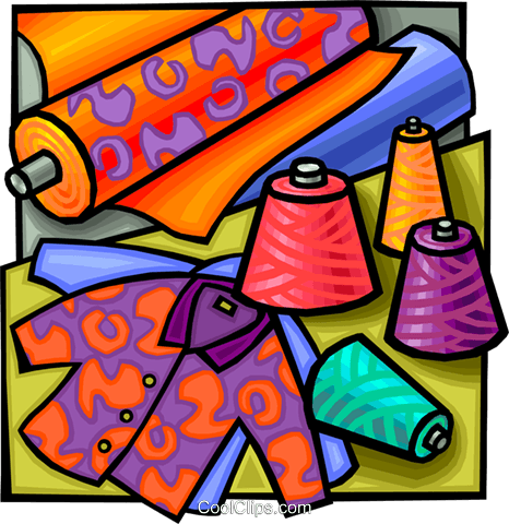 Fabrics clipart banner royalty free Fabrics and garments Royalty Free Vector Clip Art illustration ... banner royalty free