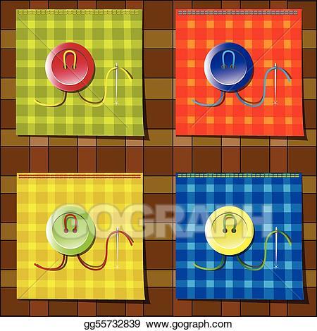 Fabrics clipart graphic freeuse stock Vector Art - Fabrics. Clipart Drawing gg55732839 - GoGraph graphic freeuse stock