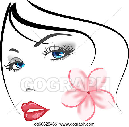 Face beauty clipart picture stock EPS Illustration - Beauty face girl . Vector Clipart gg60628465 ... picture stock