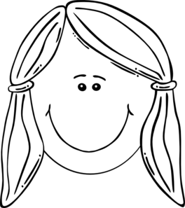 Face clipart black white clip art transparent download Smiling Girl Face Balck & White Clip Art at Clker.com - vector clip ... clip art transparent download