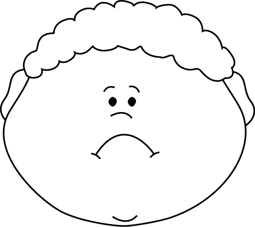 Face clipart black white png transparent Black and White Little Boy Sad Face | Think Sheets and More | Sad ... png transparent
