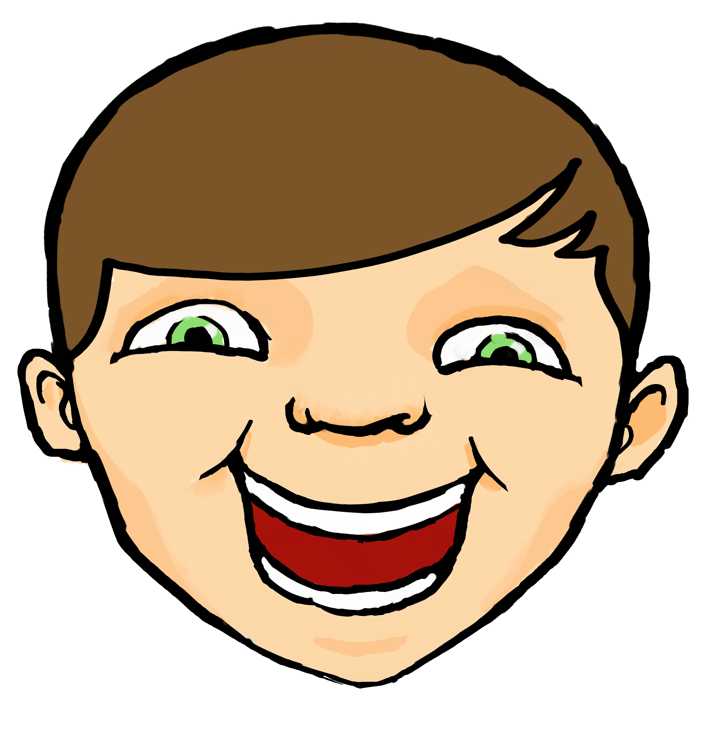 Happy kid face clipart graphic free download Free Face Cliparts, Download Free Clip Art, Free Clip Art on Clipart ... graphic free download