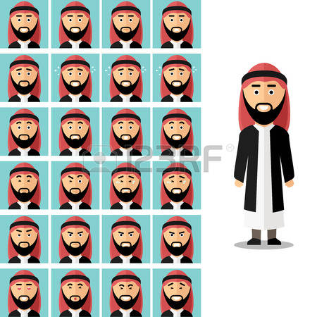 Face for arabic man clipart svg transparent stock 4,345 Arab Man Stock Vector Illustration And Royalty Free Arab Man ... svg transparent stock