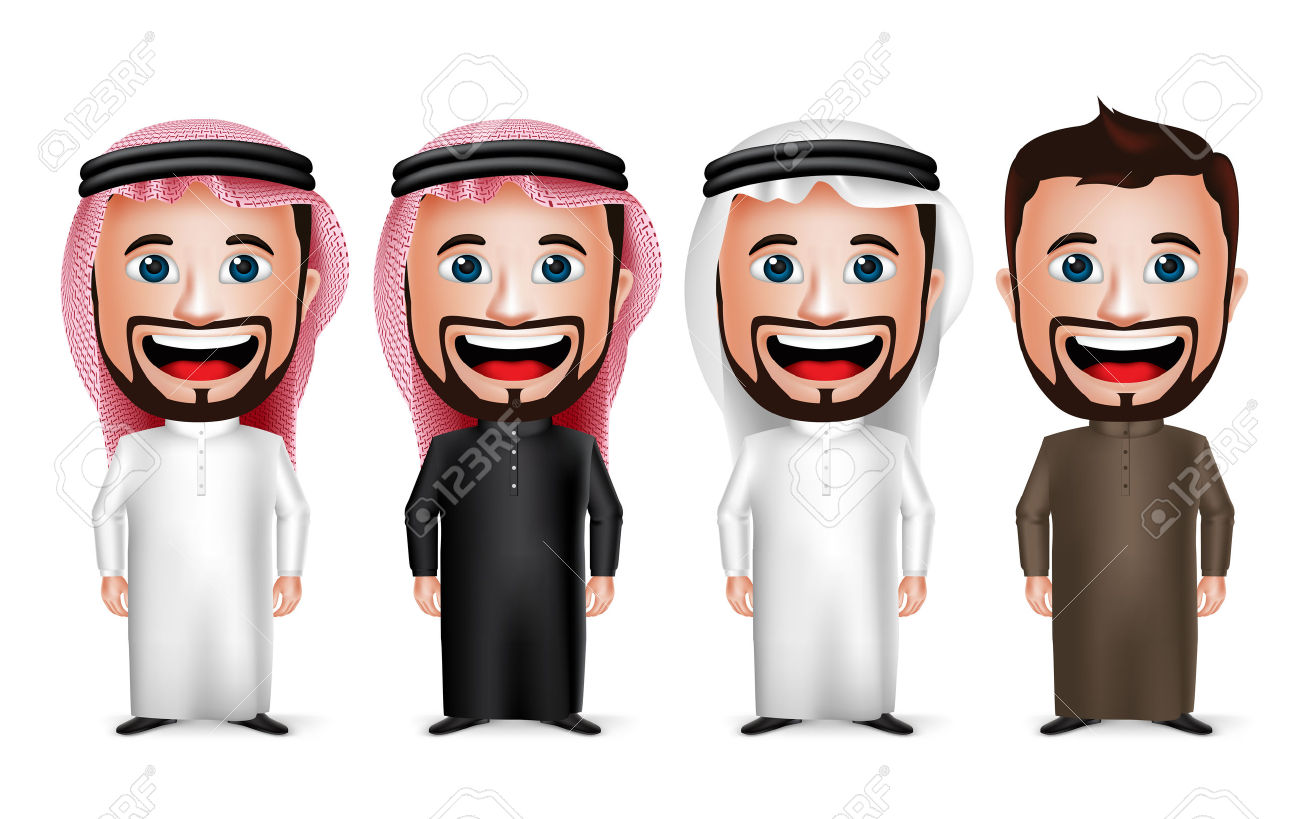 Saudi man face clipart - ClipartFest picture black and white download