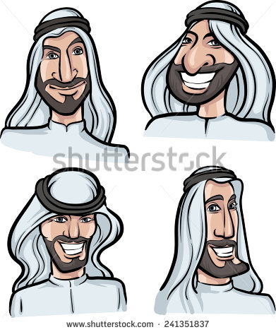 Face for arabic man clipart - ClipartFest vector royalty free