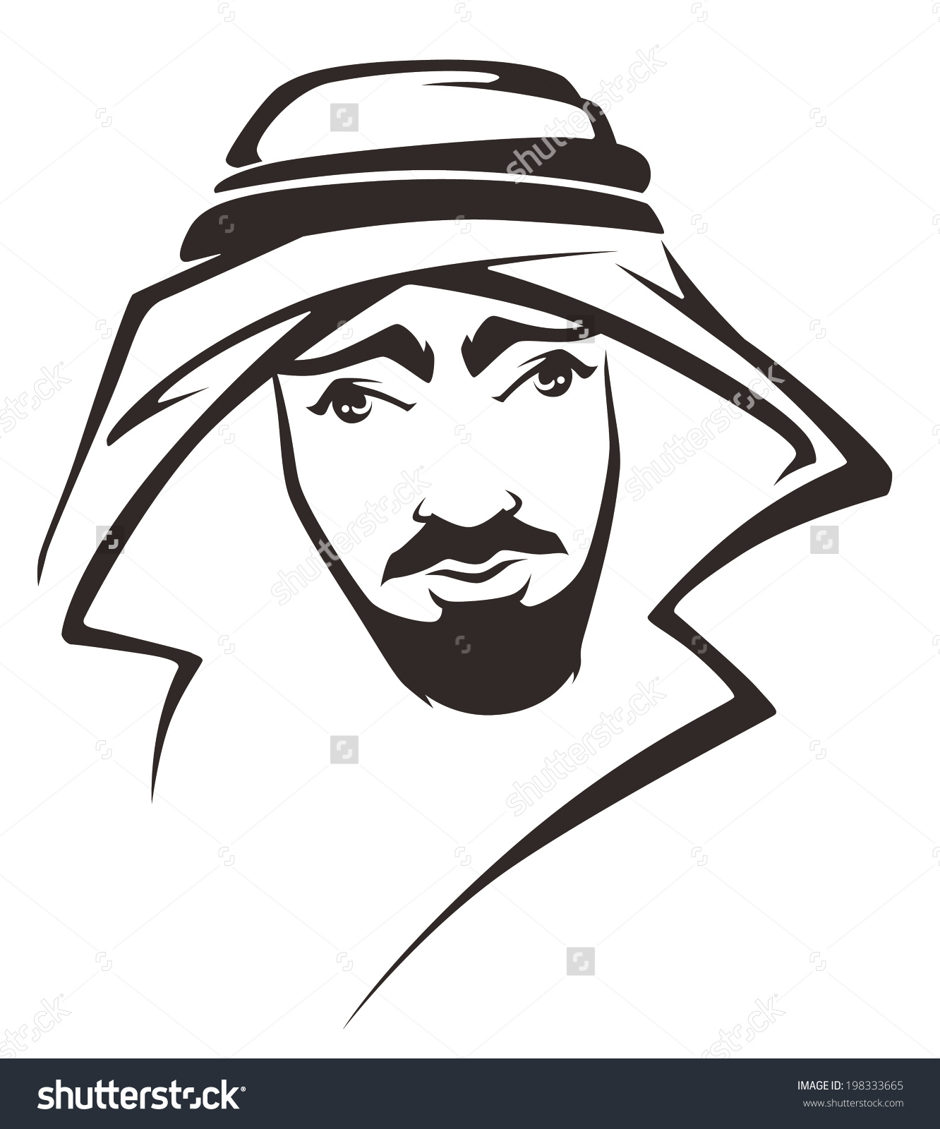 Handsome Arabian Man Stock Vector 198333665 - Shutterstock png free library