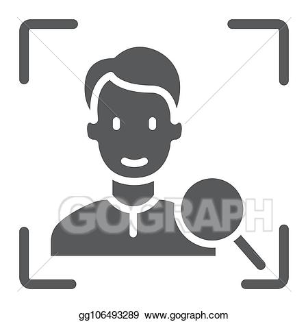 Face id clipart free Vector Clipart - Face id glyph icon, face recognition and face ... free