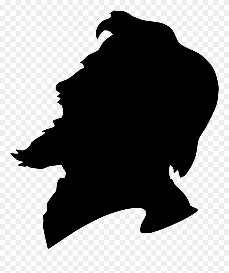 Side beard clipart clip black and white library Image Royalty Free Library Man Yelling Side View - Man With Beard ... clip black and white library