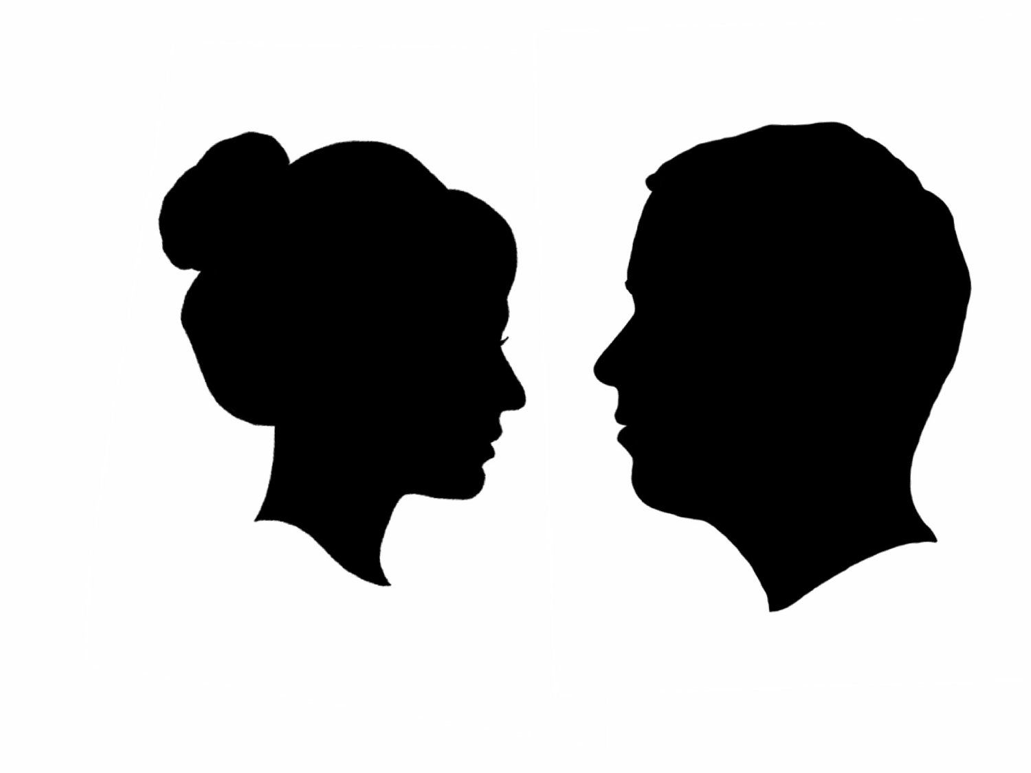 Female face silhouette clipart picture royalty free Side Face Silhouettes Clipart - Clipart Kid | Shillouete heads ... picture royalty free