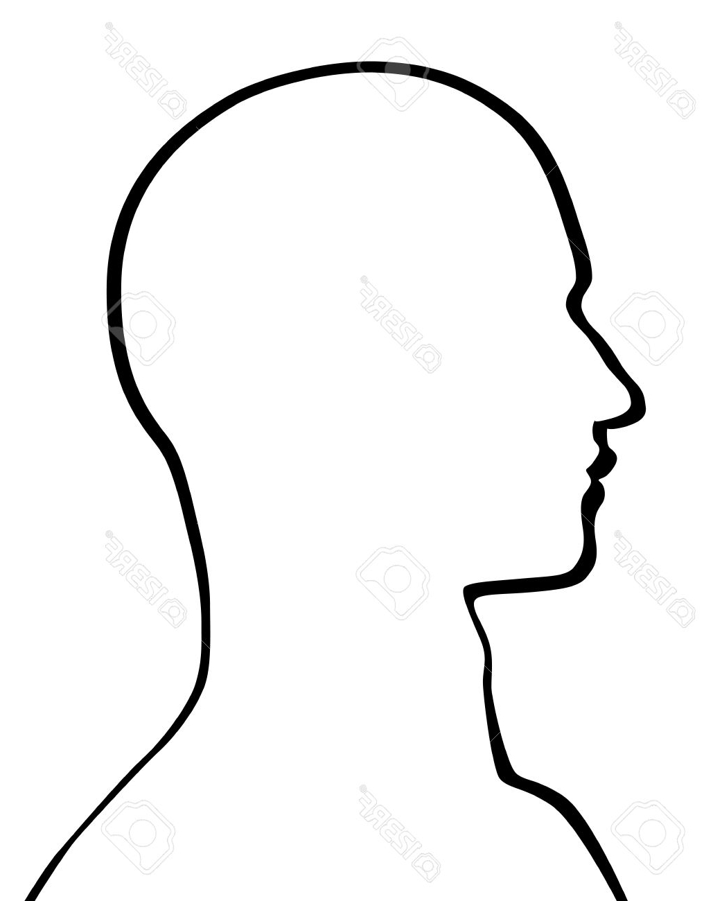 Human Face Outline | Free download best Human Face Outline on ... svg free download