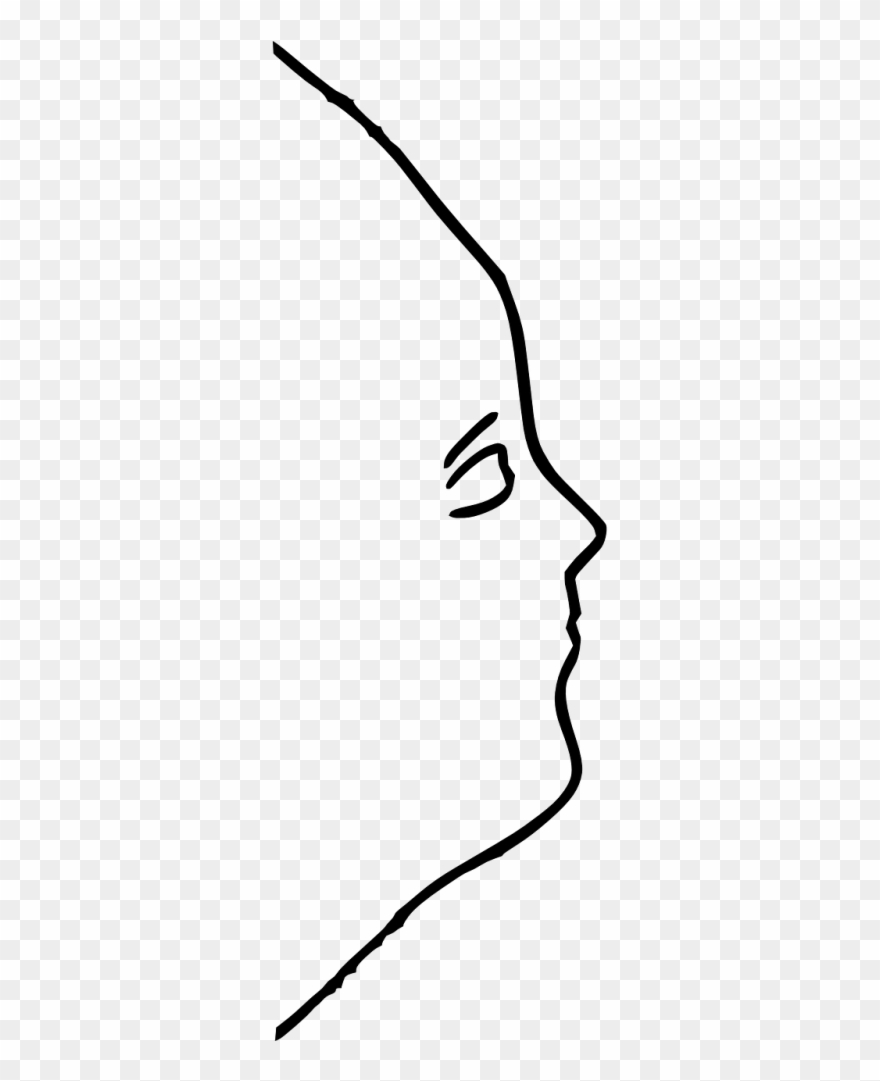Face Outline Side Clipart (#1592502) - PinClipart png freeuse
