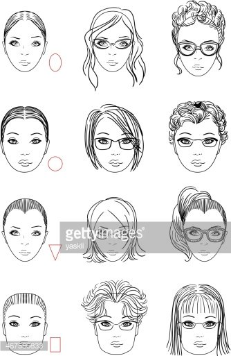 Face shape clipart vector library stock Types of Face Shape premium clipart - ClipartLogo.com vector library stock