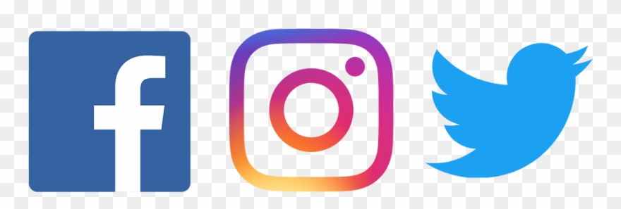 Facebook and instagram icon clipart picture black and white Facebook Twitter Instagram Png - Fb Twitter Instagram Logo Png ... picture black and white
