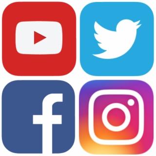 Facebook instagram youtube logo clipart