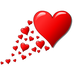 Facebook chat clip art png royalty free Flying Hearts Facebook Chat Code png royalty free