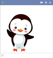 Facebook chat clip art clipart download Angel Stickers for Facebook Chat | Big penguin icon for Facebook ... clipart download